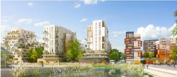 Ecoquartier : logements, résidence de service et bâtiment tertiaire - St Ouen
