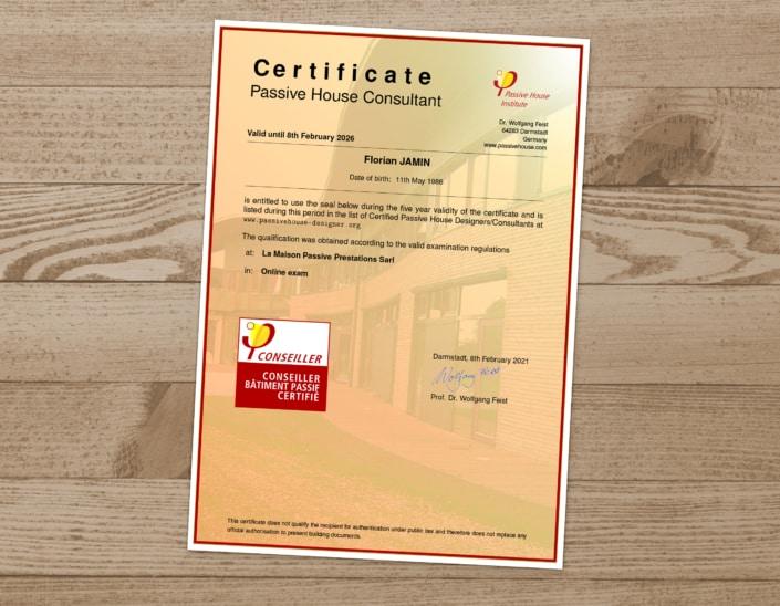 CARDONNEL Ingénierie certifié PHP « Passive House Designer/Consultant »
